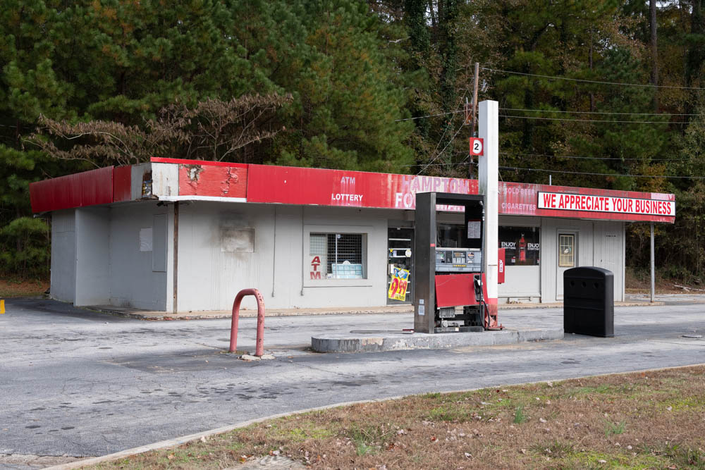 This abandoned Texaco gas station and mini mart sits in Hampton, Ga not far from Atlanta Motor Speedway.