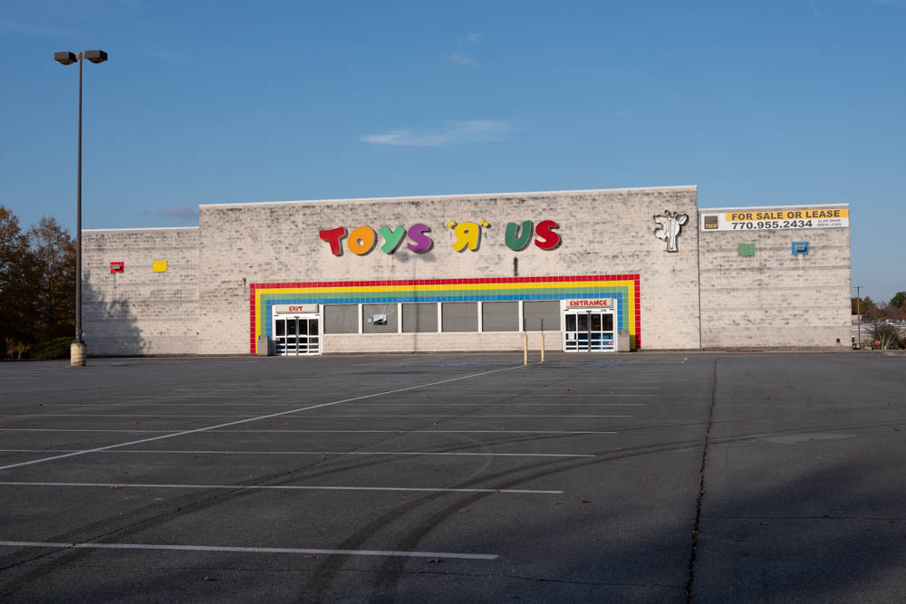 Abandoned Toys 'R' Us in Rome, Ga in Floyd County. Even big stores are not exempt from going out of business.