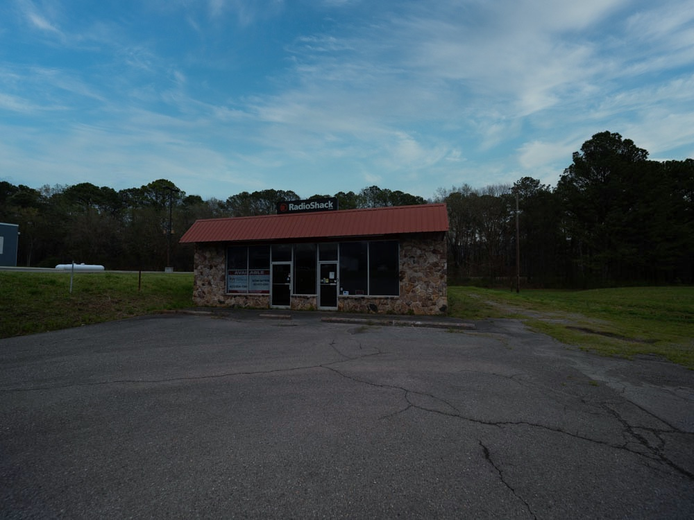 Abandoned Radio Shack Franchise store in Murray County, Georgia.